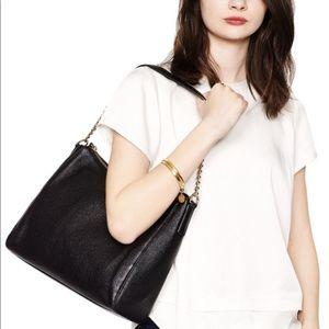 Kate Spade Leather Hobo Bag Gold Hardware Pristine